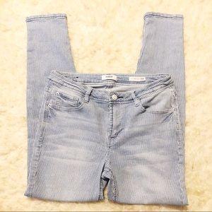 🌺Kensie Effortless Ankle Mid Rise Striped Jeans